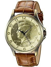 August Steiner Reloj Pantalla analógica cuarzo japonés Marrón para Hombre