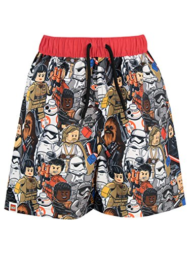 LEGO Star Wars Jungen Luke Skywalker Stormtrooper Badeshorts 128 (Luke Star Wars Lego)