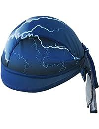 Hombres Mujeres Deporte Bandana Ascenso Fútbol Baloncesto Béisbol ciclo de la bici Hípica Chef Moda absorbente transpirable resistente al viento Turban Cap (azul)