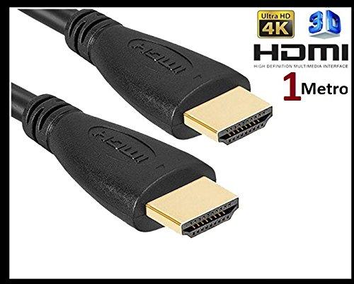 Hochgeschwindigkeits-HDMI-Kabel (Ethernet, 3d, 4K Video und Arc, 1m), Schwarz