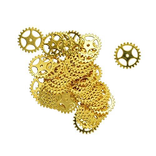 IPOTCH 100 Stück Zahnräder Charms Anhänger Schlüssel Anhänger Schmuckanhänger Charms Beads DIY Halskette, Armbändern, Ohrring