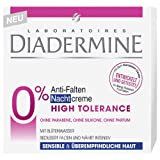 Diadermine Anti-Falten Nachtcreme High Tolerence 50ml/Reduziert Falten und nährt intensiv/für sensible und überempfindliche Haut