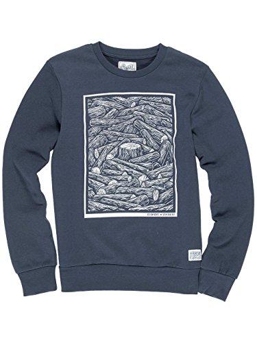 Herren Sweater Element Logs Crew Sweater eclipse navy