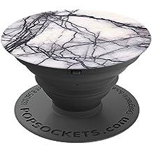PopSockets: Ausziehbarer Sockel und Griff für Smartphones und Tablets - White Marble