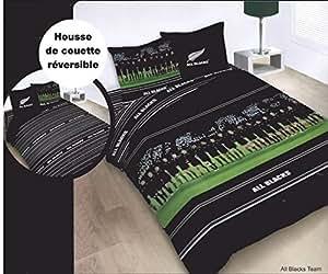 duvet cover bed set reversible double all blacks rugby. Black Bedroom Furniture Sets. Home Design Ideas