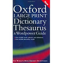 Oxford Large Print Dictionary, Thesaurus, and Wordpower Guide