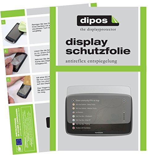 dipos I 3X Schutzfolie matt passend für Tomtom Go Professional 6250 Folie Displayschutzfolie