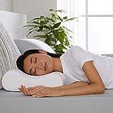 "YOZO Contour Cervical Orthopedic Memory Foam Pillow Memory Pillow, Memory Pillows for Sleeping, Memory Pillow for Neck Pain, Memory Pillow Cover - 19""x 11"" x 3.5"", White (White*)"
