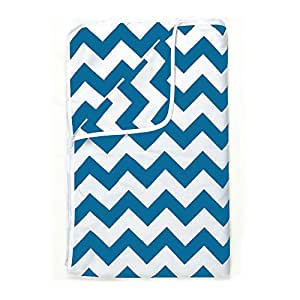 Divine Casa Microfiber 100 GSM Abstract Single A/C Dohar/Blanket/Quilt - Diva Blue and White