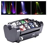 U`King Moving Head, LED Lichteffekt DJ Partylicht Disco Bühnenlicht DMX512 with 8 * 10W RGBW Lichter für Bar Weihnachten Halloween Party