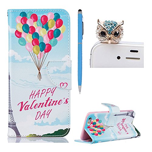 SKYXD für iphone 6 Plus / 6S Plus Hülle Leder Leopard Muster Folio Klappbar Handy Tasche Schutzhülle [Magnet / Brieftasche Kartenfach / Standfunktion] Klapphülle mit [Handyanhänger + Eingabestift] Zub Design 14