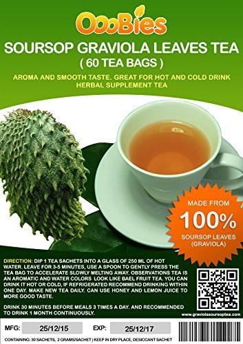 ooobies Stachelannone Graviola Tee Staubbeutel aus 100% Graviola Blätter powder- 60Teebeutel