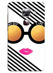 Omnam My Diy Life Written In Glass Printed Designer Back Cover Case For LeTv Le2