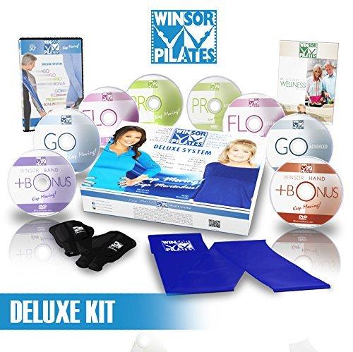 Winsor Pilates Deluxe–8DVD 's, Gewichtshandschuhe, Widerstand Band, Wellness Guide