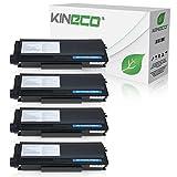 Kineco 4 Toner kompatibel für Brother TN-3280, TN3280 für Brother HL5340D, HL5350DN, HL5370WD, HL5380DN, 8085DN. 8880DN, 8890DW, MFC-8370DN - Schwarz je 8.000 Seiten