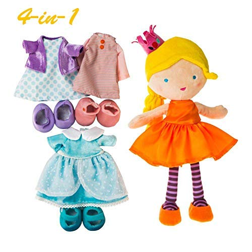 Labebe Vorschule Mädchen 4-in-1 Prinzessin Dress up Set / Geschenk, Rolle Spielen Puppe, vorgeben Spiel Spielzeug - Ruby