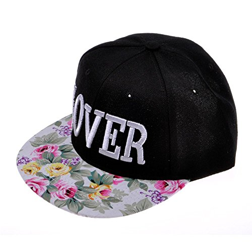ZLYC Damen Visor Snapback Floral Print Adjustbable Baseball Cap Baseballmütze