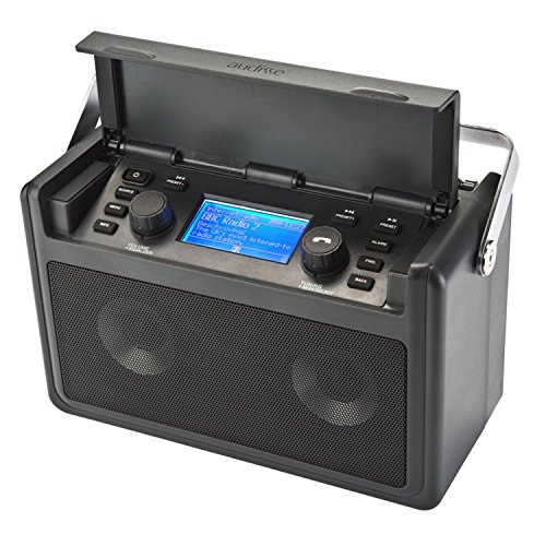 Audisse Shirudo Internetradio UKW/DAB+ Radio WiFi Bluetooth tragbar USB AUX WLAN Radio mit Internet Webradio Digitalradio