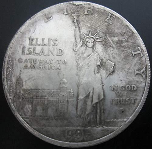 YWJHY Nachgemachte amerikanische Fackel-Freiheitsstatue IN Gott WIR TRUST1906 Alter Silberdollar,Silber,Einheitsgröße