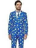 Suitmeister Weihnachtsanzüge für Herren besteht aus Sakko, Hose und Krawatte