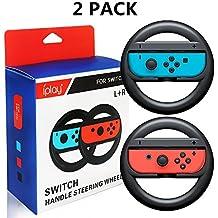 Runfon 2*Volants pour Nintendo Switch Grips de poignée de Roue pour Nintendo Switch Commutateur Joy-Con