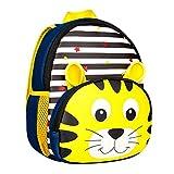 Longra Cute Tier Kinder Rucksack Kleine Schultasche für Mädchen und Jungen Buch Tasche für Kleine Rucksäcke Kindergartenrucksack Kindergartentasche Mini Backpack Kinder Kleinkind Rucksack (Gelb)
