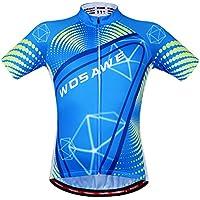 WOSAWE Unisex ciclismo pantaloncini tute manica corta Set bicicletta Jersey Sport pantaloncini estivi riflettente-XL