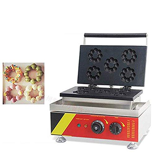 ZGUO 5 Piezas Eléctrico Flor de Ciruelo Dulce Donut Maker Donut Cocina Waffle Sartén de Hierro Waffle Hacer Máquina Antiadherente Certificación CE 220V-240V