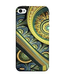 PrintVisa Designer Back Case Cover for Apple iPhone SE (design pattern 3d circles arcs)