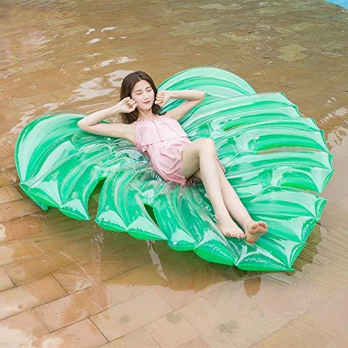 Leaf Liege (inflatable toys Sommergrün Lässt Schweben Aufblasbare Spielzeuge,Leaf Schwimmbett Erwachsenen Schwimmring Liege Surfbrett,küstenfeiertagsspielzeug -180 * 160cm A)