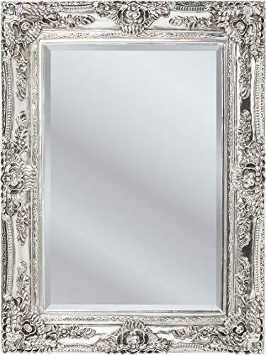 Kare Design Spiegel Royal Residence, kleiner Wandspiegel, Badspiegel, Spiegelglas mit royalem Rahmen, Vintage Antik Rahmen, Silber, (H/B/T) 118x88x7cm