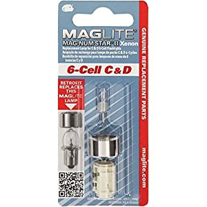 Mag-Lite LMXA601 Magnum Star II Xenon Ersatzleuchtmittel Glühlampe für 6 C-/6 D-Cell Stablampen