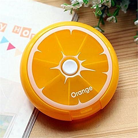Hoobor House Box-Pill Portable Transporter petit comprimé fort Mini-Billet sur les pilules contraceptives les médicaments dans le comprimé admettre fort,Oranges