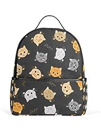 COOSUN Patrón gatito Gatos mochilas escolares mochilas para Niños Niñas Adolescentes Niños ...
