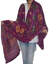 VGB Creations® Women's Kutch Work Cotton Dupatta,Women's Block Printed Aari Mirror Work Cotton Dupatta, Cotton...