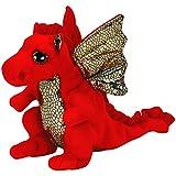 Anima peluche dragon rouge 42 cm jeux et for Interieur yeux rouge