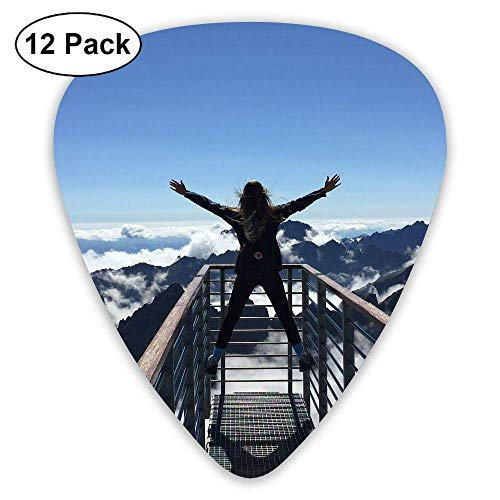 Steep Cliff Rock Climbing Classic Guitar Pick (12 Pack) for Electric Guita Bass -