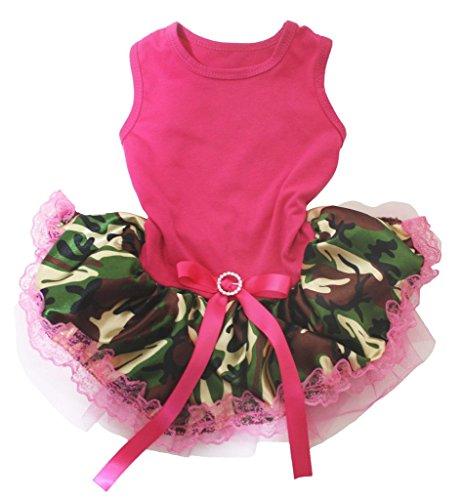 ink Baumwolle Shirt Camouflage Spitze Tutu 1Hund Kleid ()