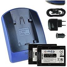 2 Baterìas + Cargador (USB/Coche/Corriente) para Sony NP-FV50 / DCR-PJ../SR../SX. // DEV-3 5 30 50 50V // HDR-CX../PJ../XR. // NEX-VG. ver lista!