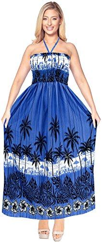 Rohr nach oben Rock Frauen Wear Maxi Sommerkleid lange Badebekleidung Kleid verschleiern halter neck Königsblau