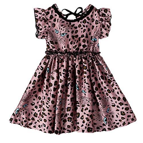 squarex  Sommer Mädchen Print Kleid Kleinkind Rüschenrock Kinder Prinzessin Kleid Baby Freizeitkleid Komfortables Kleid