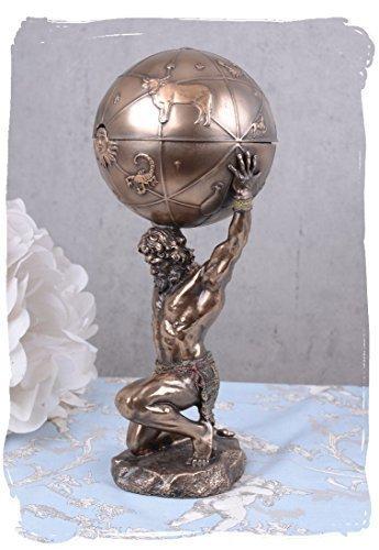 Mythologische Skulptur, Figur, Büste, Statue, Statuette von Atlas, Titan, wie er die Weltkugel...