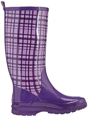 Playshoes Plaid Wellies Wellington Boots, Bottes de Neige femme Violet - Purple - Violett (flieder 10)