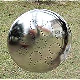 Acero inoxidable Individual VibeDrum–9notas–pulido–S–en distintas escalas pentatónica–Handpan/mano tambor/tambor de lengua de acero