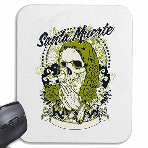 tapis-de-souris-mousepad-mauspad-santa-muerte-skull-biker-shirt-bike-gothic-club-mc-moto-chopper-cus