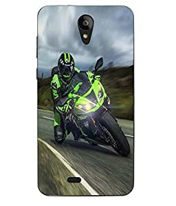 Case Cover Racing Bike Printed Multicolor Hard Back Cover For Sony Xperia XA Ultra Dual