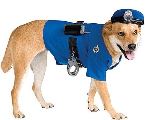 Pet Hund Katze Police Officer Cop Halloween Fancy Kleid Kostüm Outfit Kleidung Kleidung S-XL - , (Cop Halloween Kostüme)