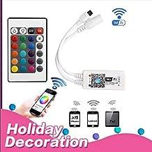 BRIGHTINWD SMD RGB LLEVÓ la Tira impermeabiliza los 5 M 60LED 12 V DC Adaptador WIFI Teléfono de Control Remoto Hogar Cinta de Vacaciones de Navidad Decoración de interiores (Wifi controller) Muttertag Geschenk