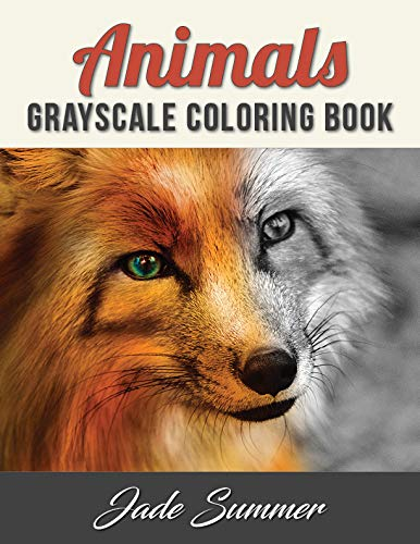 Animals Grayscale Coloring Book: An Adult Coloring Book with 50 Beautiful Photos of Animals for Beginner, Intermediate, and Expert Colorists (Panda Preise Hund)