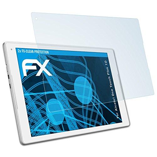 atFolix Schutzfolie kompatibel mit Alcatel One Touch Plus 10 Folie, ultraklare FX Bildschirmschutzfolie (2X)